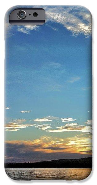 Sunset on Lake Wentworth iPhone Case by Richard Lent