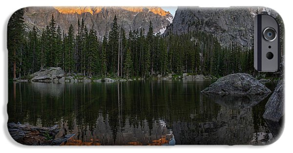 Nederland iPhone Cases - Sunset on Lone Eagle Peak iPhone Case by Aaron Spong