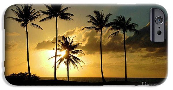 Ocean Sunset Pastels iPhone Cases - Sunset On Molokai Hawaii iPhone Case by Bob Christopher