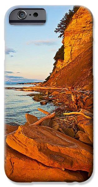 Nebraska iPhone Cases - Sunset on the Chalkstone iPhone Case by Chris  Allington