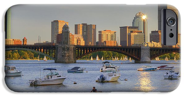 City. Boston iPhone Cases - Sunset on the Charles iPhone Case by Joann Vitali