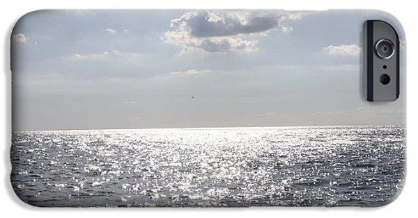 Ocean Sunset iPhone Cases - Sunset on the Horizon iPhone Case by John Telfer