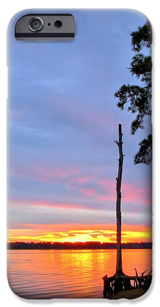 Sunset on the James River iPhone Case by Olivier Le Queinec