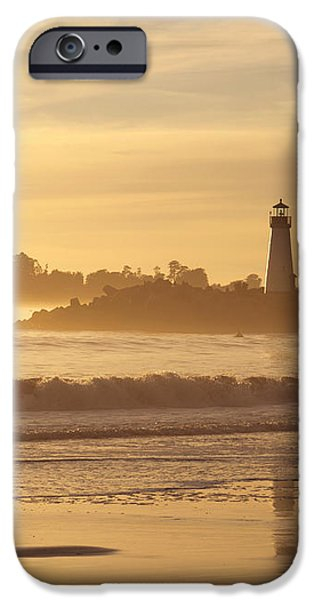 Sunset on the Lighthouse in Santa Cruz Harbor iPhone Case by Artist and Photographer Laura Wrede