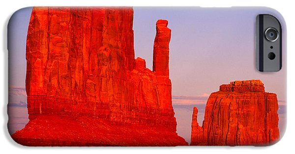 Nation iPhone Cases - Sunset on the Mittens iPhone Case by Tracy Knauer