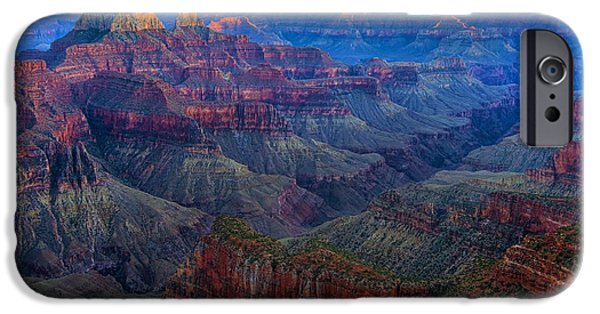 Epic Pyrography iPhone Cases - Sunset on the North Rim of the Grand Canyon HDR iPhone Case by Mark Greenawalt