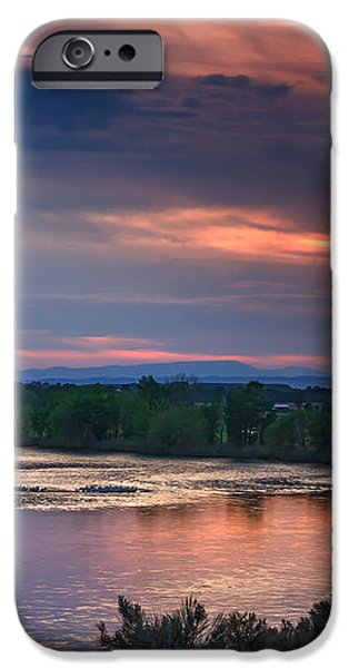 Sunset On The Payette  River iPhone Case by Robert Bales