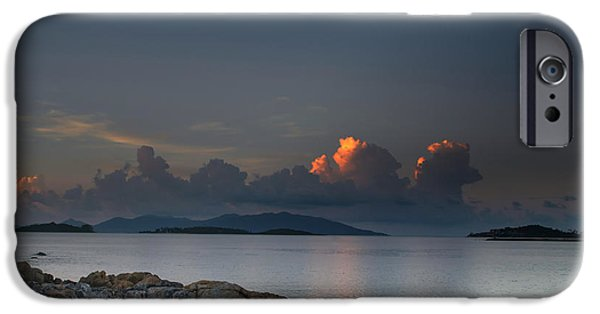 Michelle iPhone Cases - Sunset On The Sea iPhone Case by Michelle Meenawong