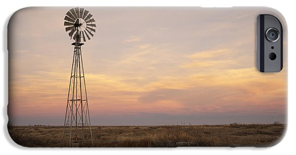 Meadow Photographs iPhone Cases - Sunset on the Texas Plains iPhone Case by Melany Sarafis
