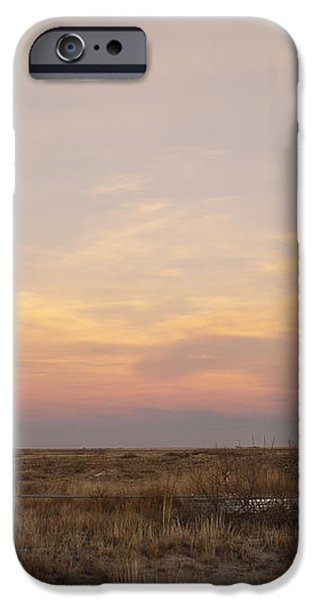 Sunset on the Texas Plains iPhone Case by Melany Sarafis