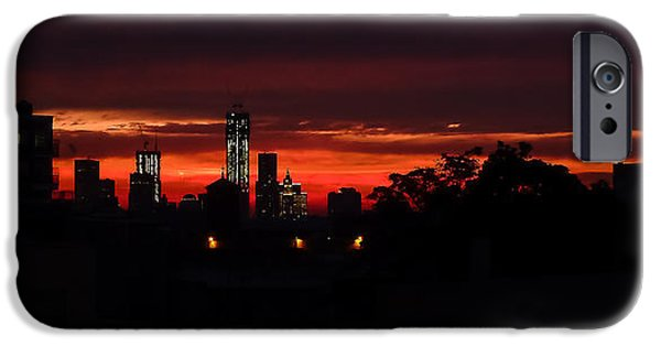 Twin Towers Nyc iPhone Cases - Sunset on the Twin Towers iPhone Case by Sandy Roe