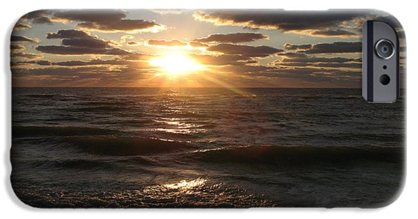 Flag iPhone Cases - Sunset On Venice Beach  iPhone Case by Christiane Schulze Art And Photography