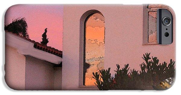 Amazing Sunset iPhone Cases - Sunset on Windows iPhone Case by Augusta Stylianou