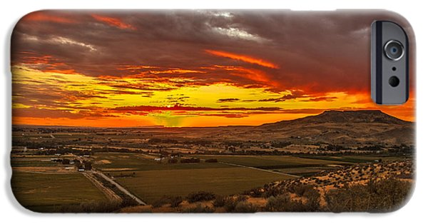 Emmett iPhone Cases - Sunset Over Little Butte iPhone Case by Robert Bales
