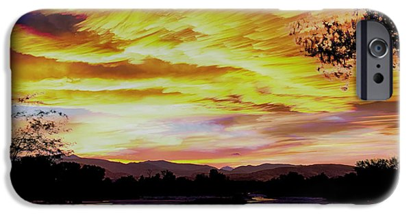 James Bo Insogna iPhone Cases - Sunset Over a Country Pond iPhone Case by James BO  Insogna