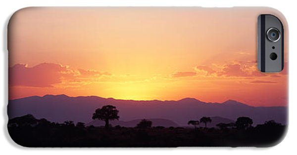 Tarangire iPhone Cases - Sunset Over A Landscape, Tarangire iPhone Case by Panoramic Images