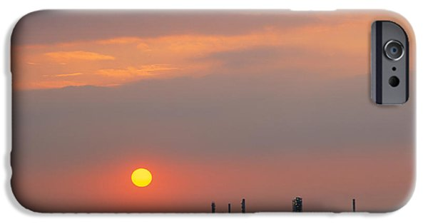 Industry iPhone Cases - Sunset Over A Refinery, Philadelphia iPhone Case by Panoramic Images