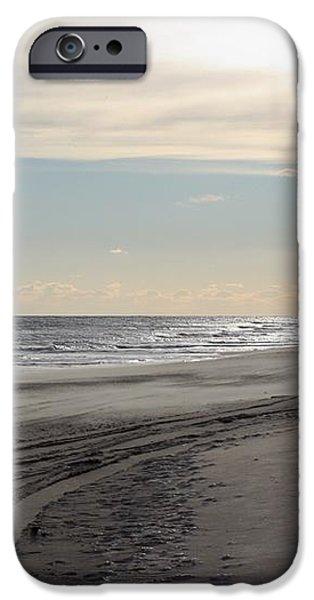Sunset over Atlantic Ocean in Montauk iPhone Case by JOHN TELFER
