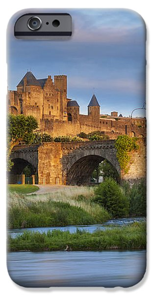 Sunset over Carcassonne iPhone Case by Brian Jannsen