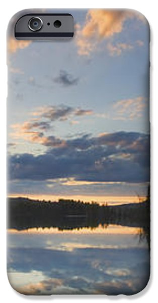 Sunset Over Flying Pond in Vienna Maine iPhone Case by Keith Webber Jr