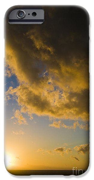 Ocean Sunset iPhone Cases - Sunset Over Great Barrier Reef iPhone Case by William H. Mullins