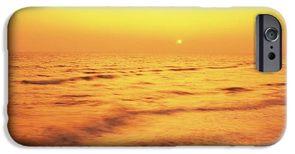 Panama City Beach Photographs iPhone Cases - Sunset Over Gulf Of Mexico, Panama City iPhone Case by Panoramic Images