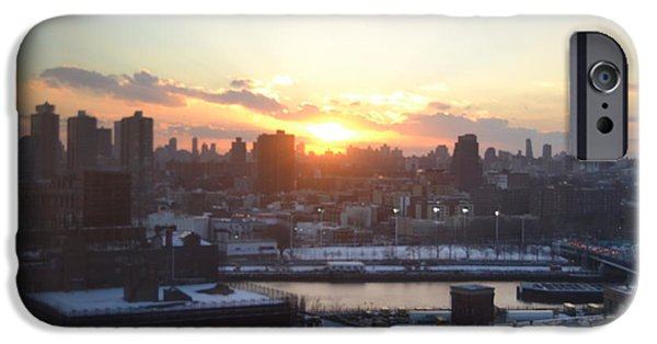 Robert Daniels iPhone Cases - Sunset Over Harlem iPhone Case by Robert Daniels