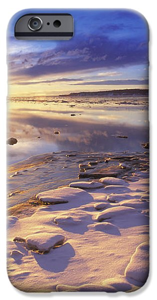 Sunset Over Knik Arm & Six Mile Creek iPhone Case by Michael DeYoung