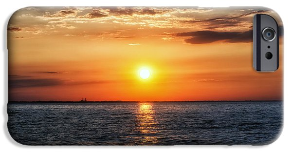 Charlotte iPhone Cases - Sunset Over Lake Ontario iPhone Case by Mark Papke