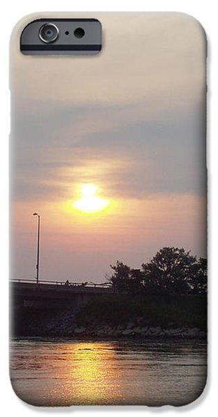 Sunset Over Meadowbrook Bridge iPhone Case by JOHN TELFER