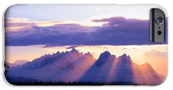 Mountain iPhone Cases - Sunset Over Mount Mckinley, Alaska iPhone Case by Panoramic Images