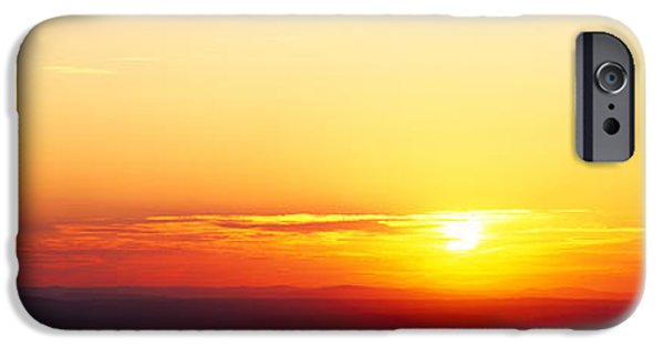 Maine Mountains iPhone Cases - Sunset Over Mountain Range, Cadillac iPhone Case by Panoramic Images