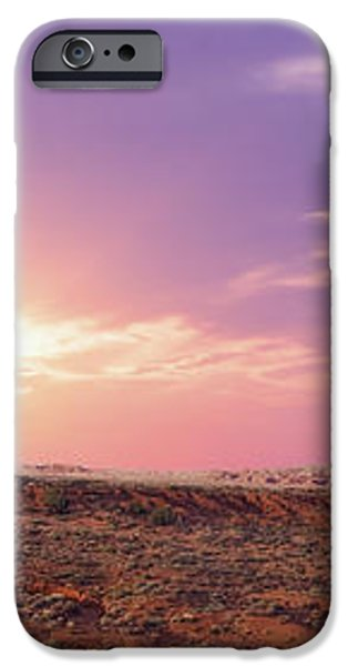 Sunset over Mountain Valley iPhone Case by Aged Pixel