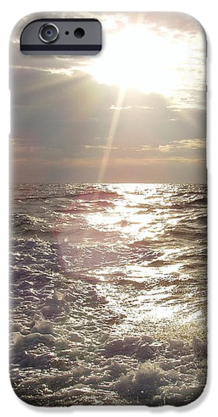 Sunset Over NJ After Fishing iPhone Case by JOHN TELFER