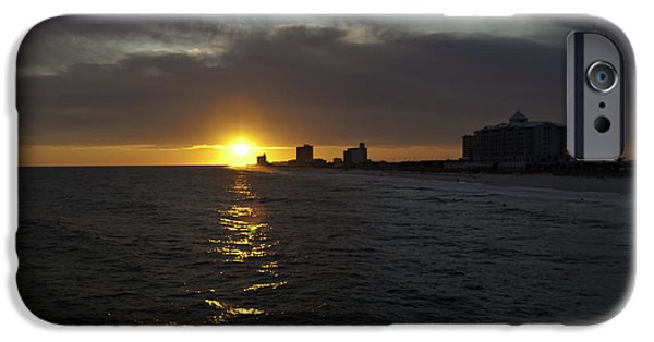 Florida iPhone Cases - Sunset Over Pensacola iPhone Case by Tim Stanley