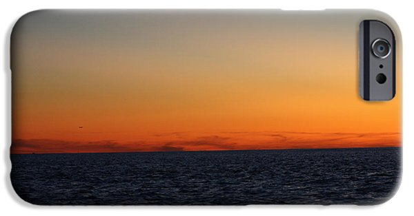 Ocean Sunset iPhone Cases - Sunset over Point Lookout iPhone Case by John Telfer