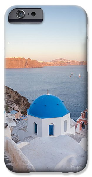 Greek Icon iPhone Cases - Sunset over Santorini - Greece iPhone Case by Matteo Colombo