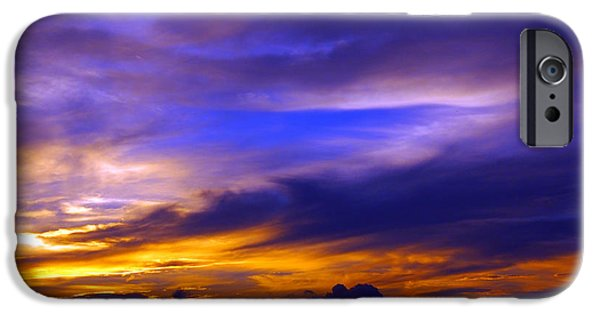Ocean Sunset iPhone Cases - Sunset over Sea iPhone Case by Justin Woodhouse