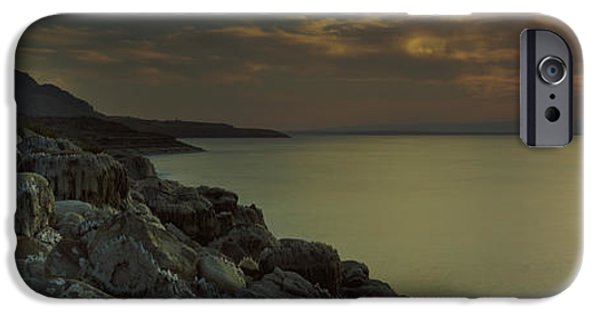 Jordan iPhone Cases - Sunset Over The Dead Sea, Arabah, Jordan iPhone Case by Panoramic Images