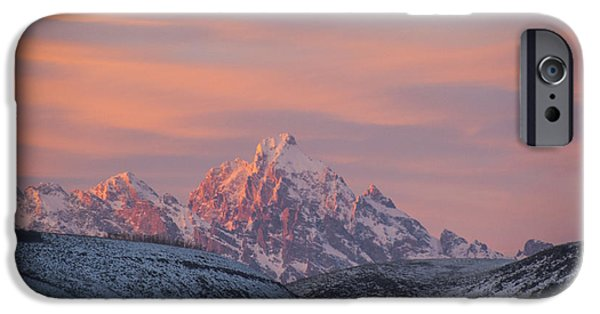 Environmental iPhone Cases - Sunset over the Grand Tetons iPhone Case by Juli Scalzi