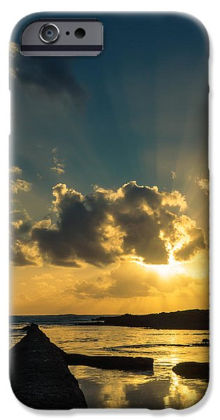 Sunset Over The Ocean IV iPhone Case by Marco Oliveira