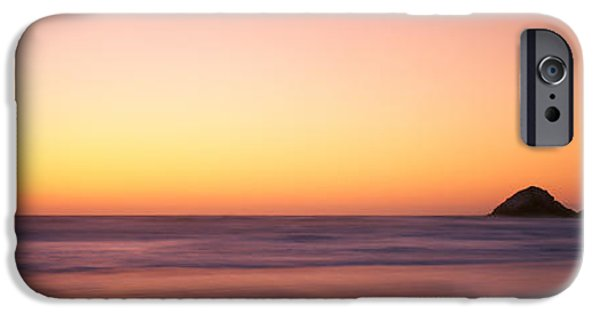 Ocean Sunset iPhone Cases - Sunset Over The Ocean, Pacific Ocean iPhone Case by Panoramic Images