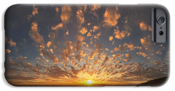 Ocean Sunset iPhone Cases - Sunset Over The Pacific Ocean iPhone Case by Panoramic Images