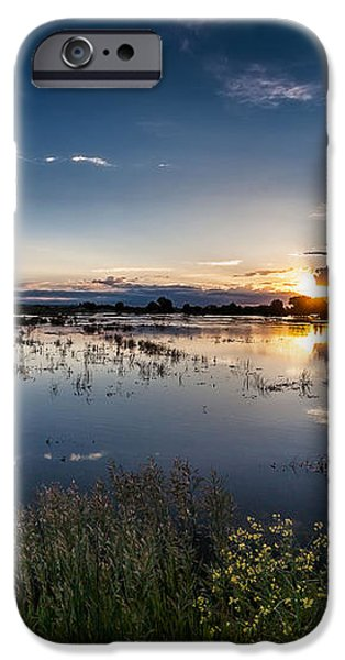 Sunset over the River iPhone Case by Steven Reed