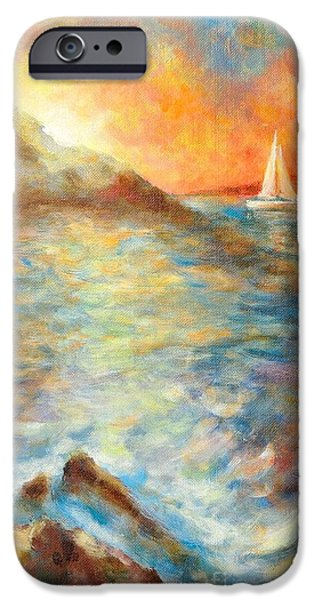 Ocean Sunset iPhone Cases - Sunset over the sea. iPhone Case by Jiri Capek