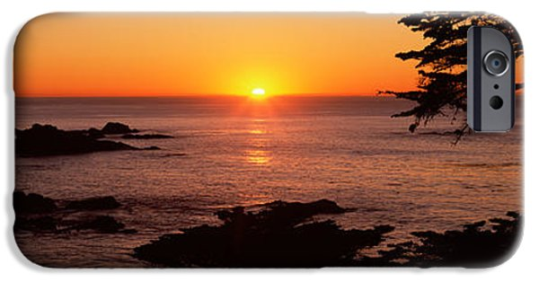 Point Lobos State iPhone Cases - Sunset Over The Sea, Point Lobos State iPhone Case by Panoramic Images
