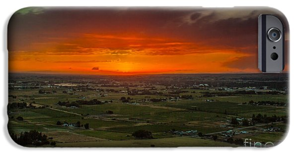 Emmett iPhone Cases - Sunset Over The Valley iPhone Case by Robert Bales