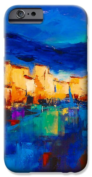 Sunset Over the Village iPhone Case by Elise Palmigiani