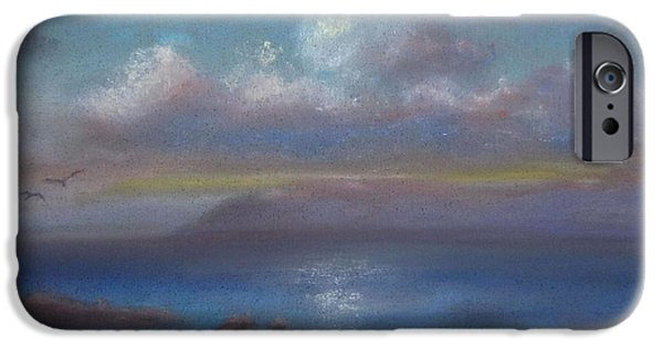 Ocean Sunset Pastels iPhone Cases - Sunset Over Trunk Bay iPhone Case by Karen Sanabria