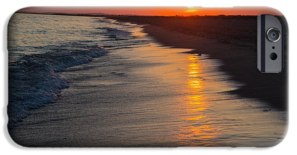 Mashpee iPhone Cases - Sunset over Vineyard Sound iPhone Case by Allan Morrison